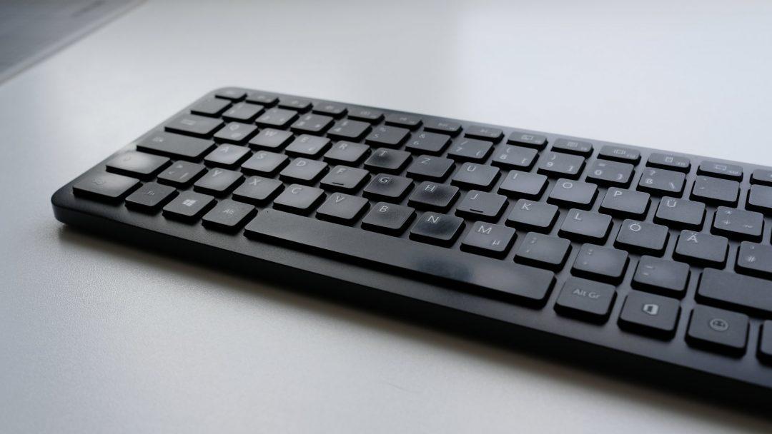 Microsoft Bluetooth Keyboard, blankgescheuerte Tasten